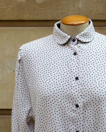 Round neck polka dots Blouse