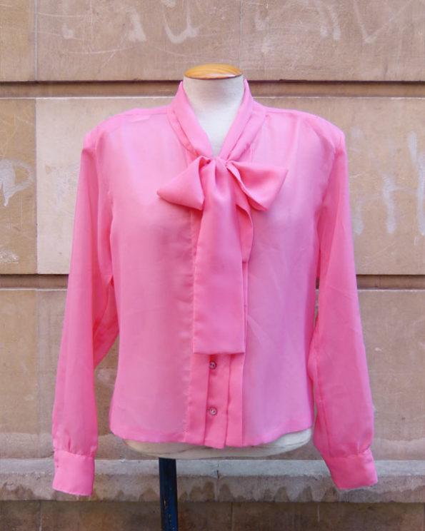 Blusa 60's Shocking Pink con lazada