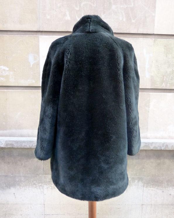 Long Vegan Faux Fur Overcoat