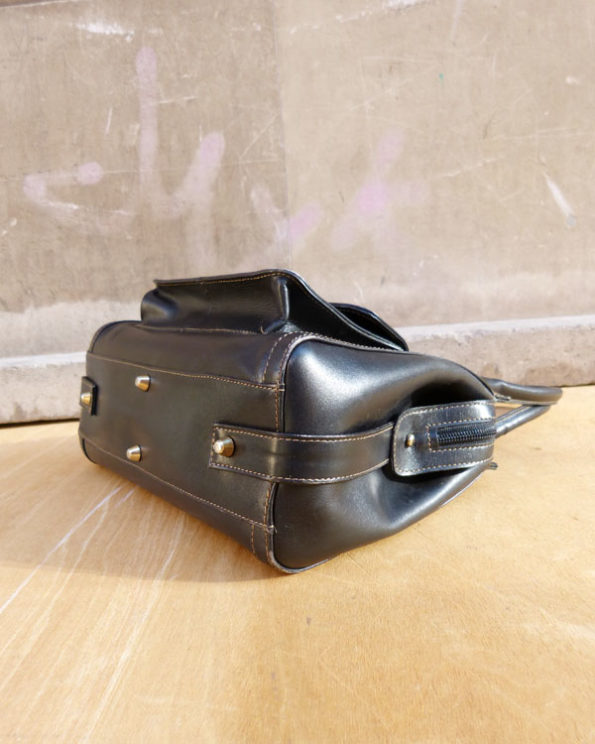 1990s Francisco Carrasco Black Handbag