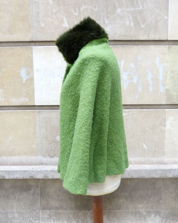 Short Emerald Green 1960s Cape