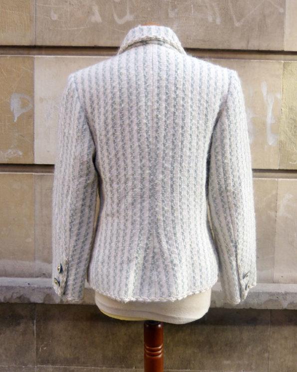 Chaqueta de dos bolsillos en tejido Tweed