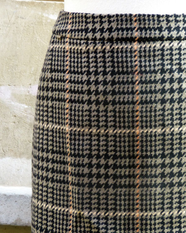 Late 70s Checked Burberrys' Skirt