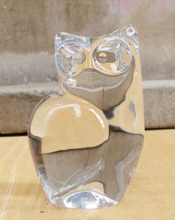Buho de cristal grande Olle Alberius para Orrefors 4285 111