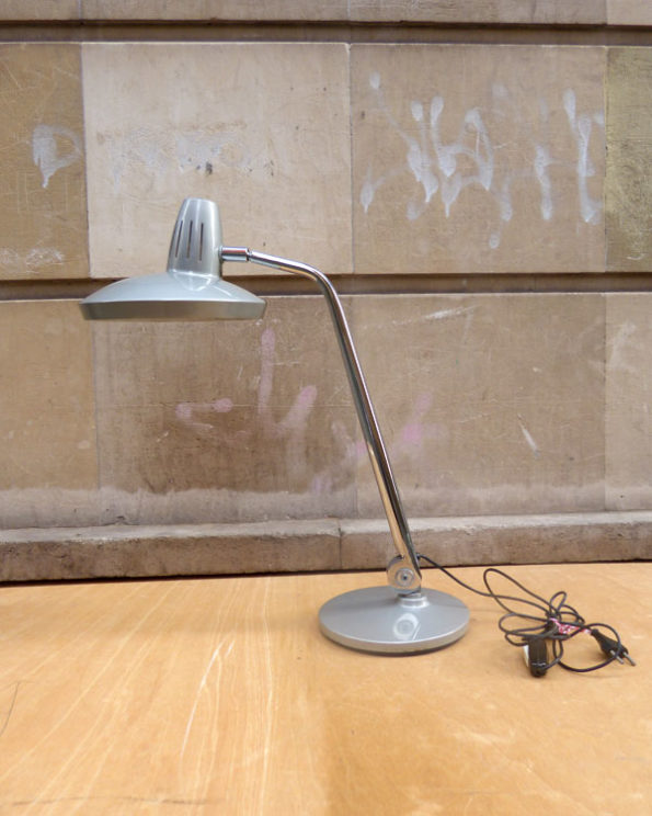 Mid Century Desk Grey Lamp by Fase