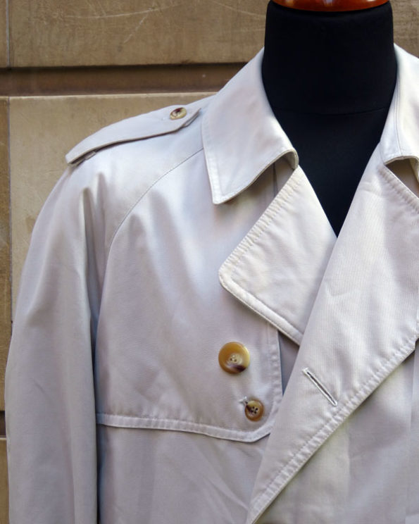 Trench corto color crema 80s Off White Short Trench Coat