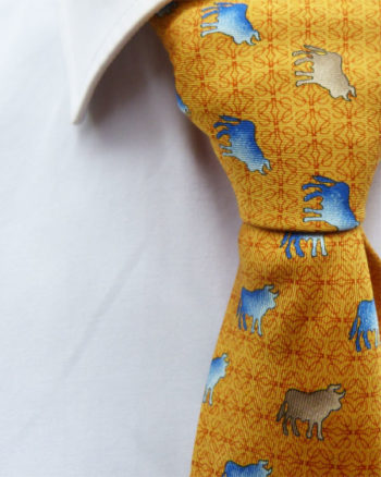 Corbata Loewe colección Tauromaquia Golden Silk Tie by Loewe - Tauromaquia Collection