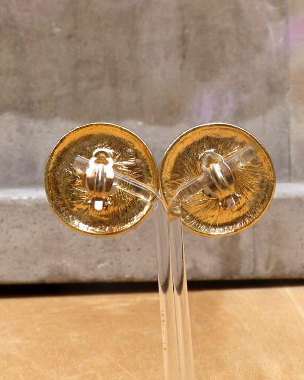 Pendientes dorados 90's con media perla gigante 90s Classic Clip On Earrings With Big Faux Pearl