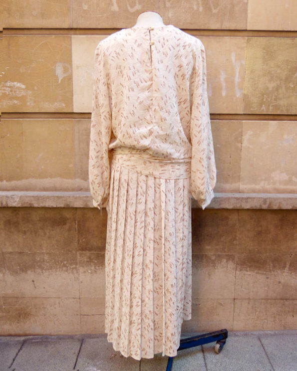 Vestido largo boho chic 1980s en color crema boho chic 1980s cream colour dress