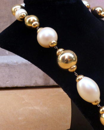 Collar de perlas Oversize Maxi Faux Pearls Necklace