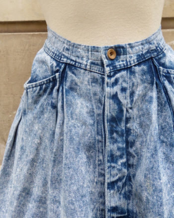 Falda vaquera 80's con extra vuelo 1980s Neige Denim Skirt With Maxi Flare