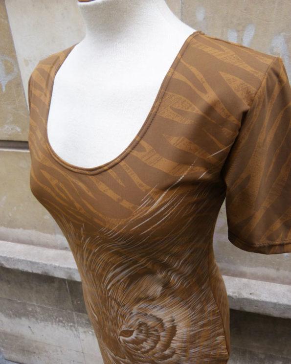 Mini vestido 90's con Animal print 1990s Animal Print Lycra Rave Dress by Gurfantti