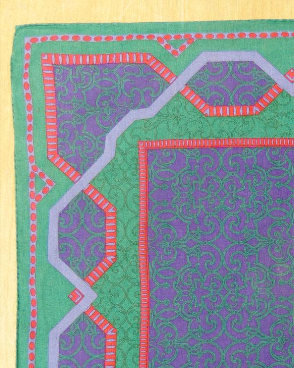 Pañuelo Christian Dior de algodón fondo verde 80s Green Christian Dior Neck Scarf