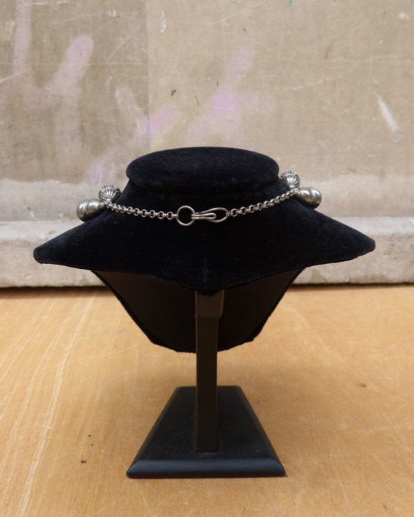 Collar étnico de bolas metálicas 80s Indian Metal Beads Ethnic Necklace