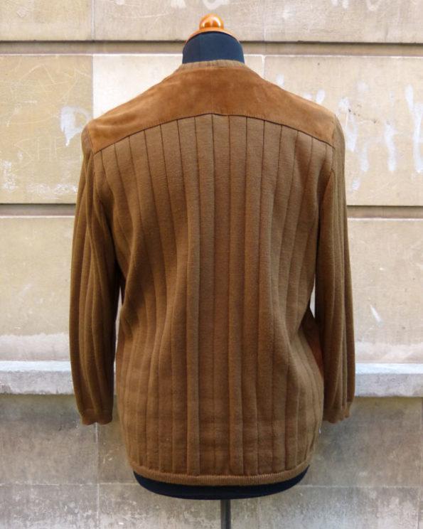 Chaqueta de Acosta de punto y ante unisex 1960s Mod Styled Suede and Knit Unisex Jacket by Acosta