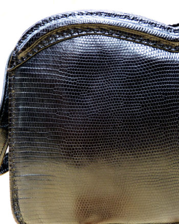 Heart shaped lizard skin handbag from the 1950s