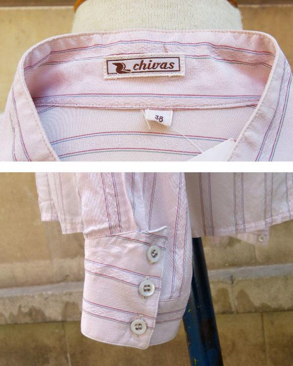 Blusa cuello Mao y bolsillos asimétricos