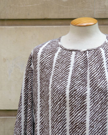 Tailor made 80s printed top
