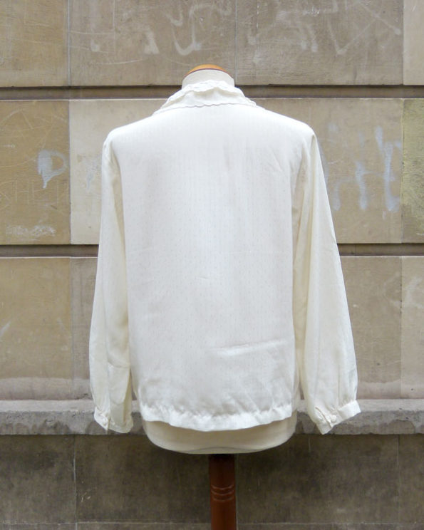 Romantic Emboidered Off White Blouse