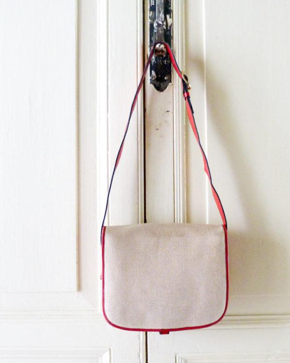 Mini bolso italiano para Sears de piel y tela