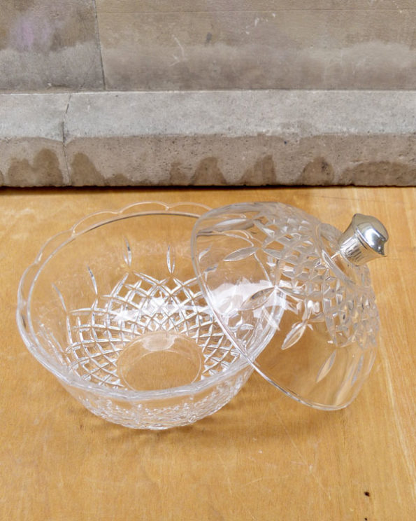 Glass bonbonniere Bohemia style