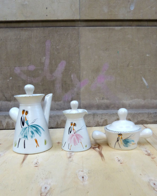 1950s Hot chocolate set from Vallauris France