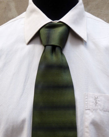 Green Shading Off Necktie by Balmain
