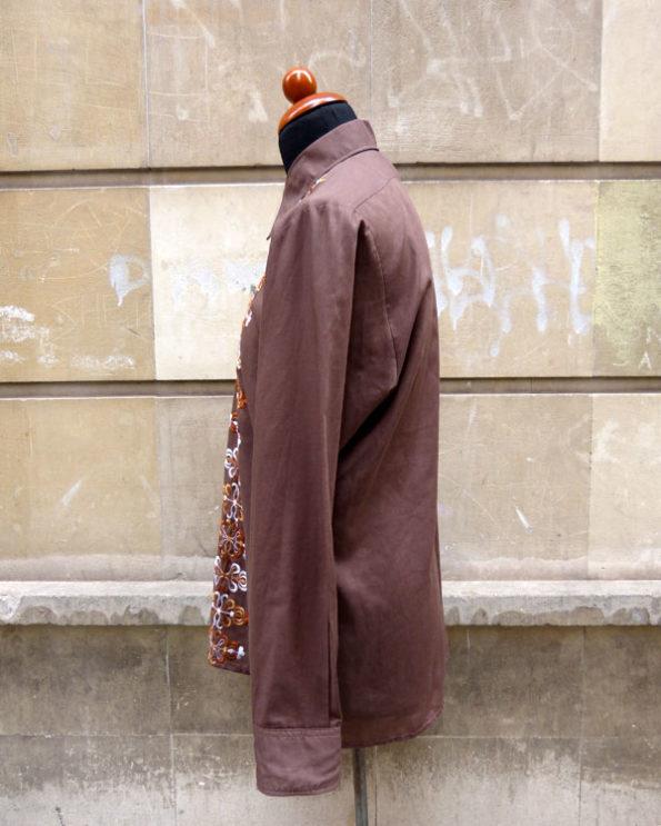 Camisa 70's de hombre bordada