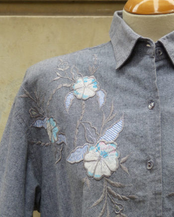 1980s Blouse with Japanese style embroideries