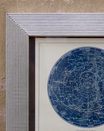 framed vintage sky map