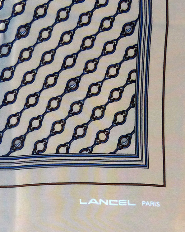 Lancel Scarf - Cream Monogram Chain