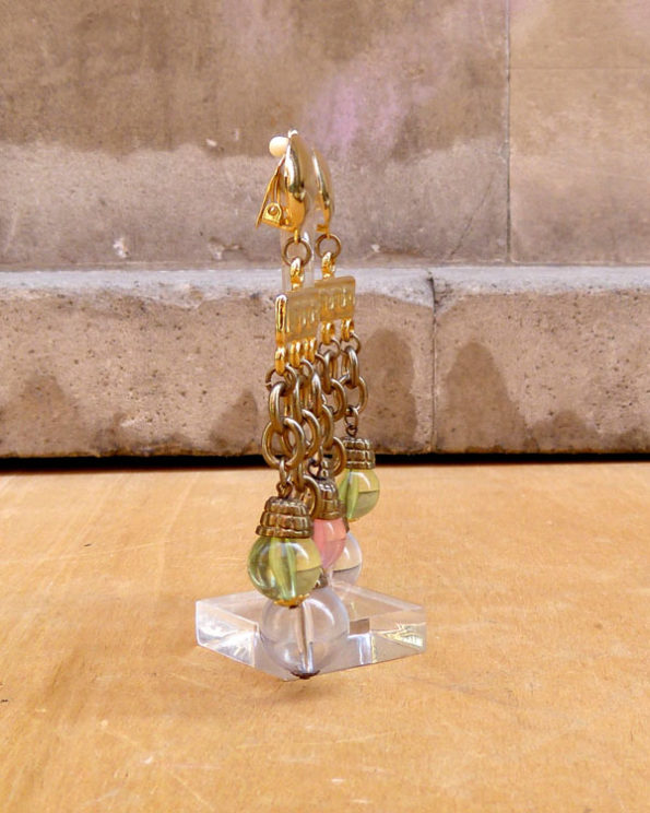 """90s """"Chandelier"""" pendants with glass beads"""