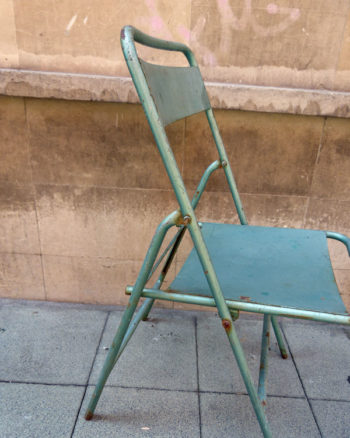 Park or Garden metal chair from the 50s
