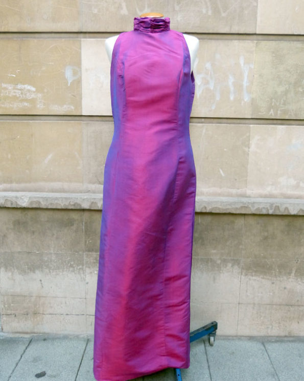 Two Tone Silk Long Dress