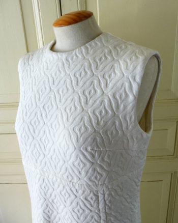1960s White Pique Dress